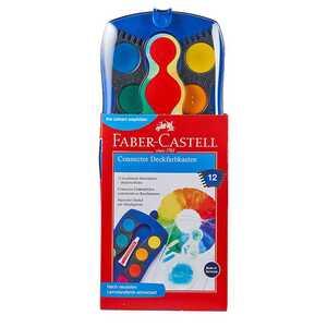 Faber Castell Farbkasten, 12 Farben, verschiedene Farben