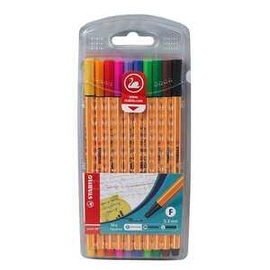 Stabilo Fineliner, 10 Stück, mit unterschiedlichen Farben