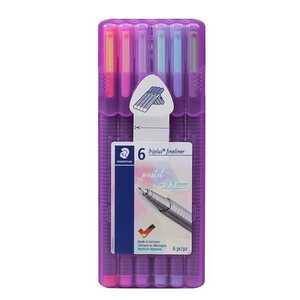 Stabilo Fineliner, 6 Stück, pastellfarben