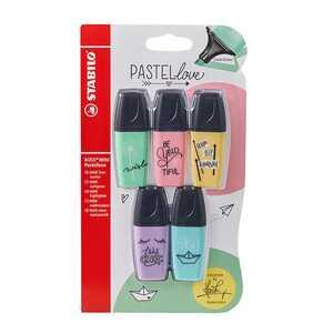 """Stabilo Textmarker """"BOSS MINI Pastellove"""", 5 Stück, mit verschiedenen Farben"""
