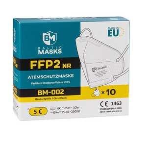 10 Stück FFP2-Masken, weiß