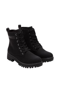 Damen Combat Boots in Lackleder-Optik