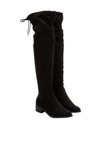 Damen Stiefel in Veloursleder-Optik