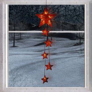 Sisalstern-Lichterkette Rot