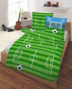 Kinderbettwäsche Fußball Biber 135 x 200 cm