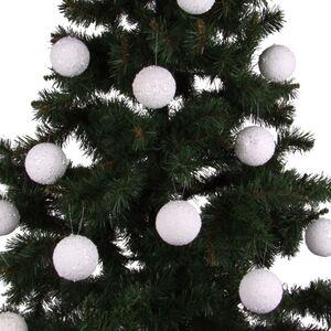 Weihnachtsbaumkugeln Schneeball 8cm 12er-Set
