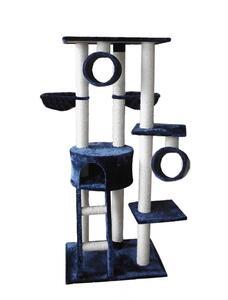 Silvio Design Katzen Kratzbaum Merlin blau