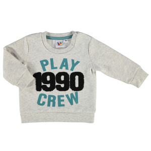 Baby Jungen Sweatshirt mit Frottee- Applikation