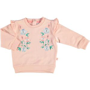 Baby Mädchen Sweatshirt mit Blumenstickerei