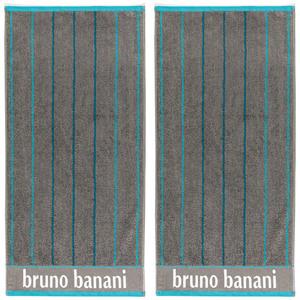 Bruno Banani Handtuch, Anthrazit/Peacock Blue - 2er-Set