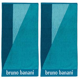 Bruno Banani Handtuch, Peacock Blue - 2er-Set