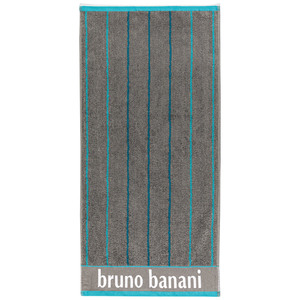 Bruno Banani Duschtuch - Anthrazit/Peacock Blue