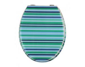 VCM - my bath WC Sitz Tivoli Transparenter Deckel & Ring Verstellbare Metallscharniere Woodstock