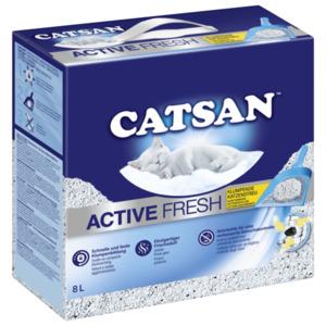 Catsan Katzenstreu Active Fresh Klumpstreu 8l