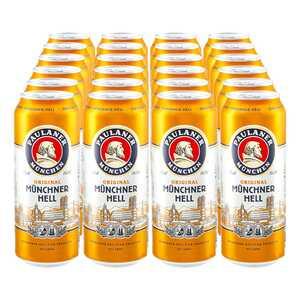 Paulaner Münchner Hell 4,9 % vol 0,5 Liter Dose, 24er Pack