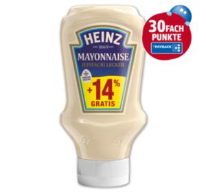 30Fach Punkte beim Kauf von HEINZ Mayonnaise im Gesamtwert von über 2 €
