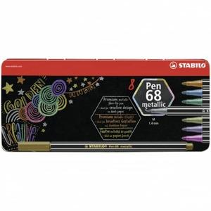 STABILO Pen 68 metallic - 8 Fasermaler -