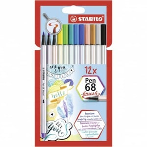 STABILO Pen 68 brush - 12 Fasermaler