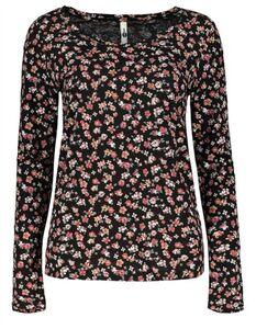 Damen Langarmshirt - Florales Muster