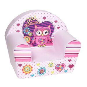 "knorr toys Kindersessel ""Owl"", Farbe Rosa"