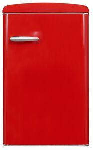 Exquisit Retrokühlschrank RKS120-V-H-160F rot   Standgerät   121 l Volumen   rot