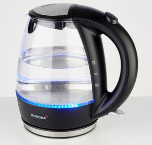 Korona Wasserkocher Glas schwarz, 2200 Watt
