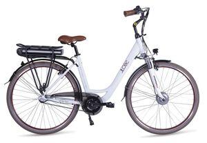 "LLobe E-Bike 28"" Alu City Bike Metropolitan Joy modernwhite 13Ah, 3-Gang Shimano"