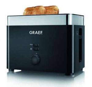 Graef TO 62 2-Scheiben Toaster Schwarz