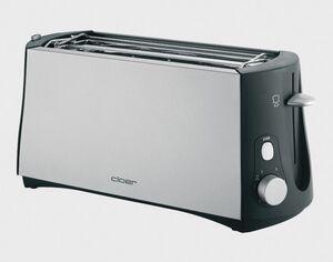 Cloer 3710 Toaster chrom matt/schwarz