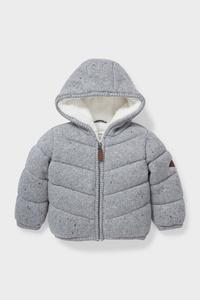 C&A Baby-Jacke mit Kapuze, Grau, Größe: 68