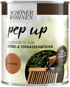 SCHÖNER WOHNEN-Kollektion Holzöl »pep up Outdoor«, 2in1 - pflegt & imprägniert, für Möbel & Terrassenböden, bangkirai, 1 l