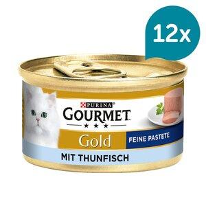 GOURMET Gold Feine Pastete Katzennassfutter mit Thunfisch 12x85g