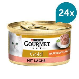 Gourmet Gold Raffiniertes Ragout Lachs 12x85g