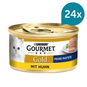 GOURMET Gold Feine Pastete Katzennassfutter mit Huhn 12x85g