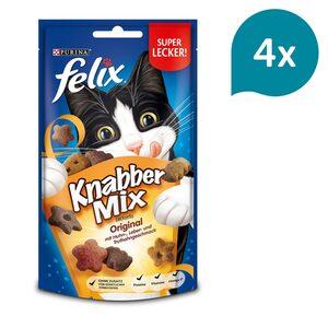 FELIX KnabberMix Original mit Huhn-, Leber- & Truthahngeschmack 4x60g
