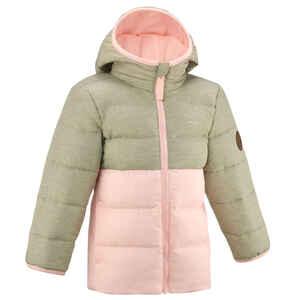 Wattierte Jacke Winterwandern X-Warm Kleinkinder Gr.92–116 rosa/beige