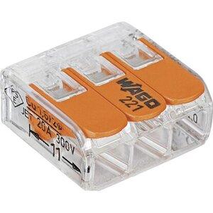 Wago Compact Klemme 3 x 0,14 mm² - 4 mm² 50 Stück