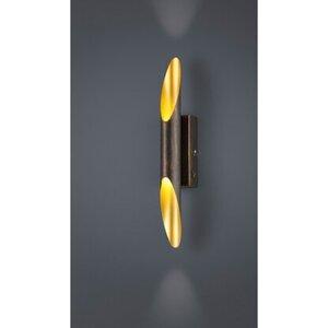 Trio LED-Wandlampe Bolero rostfarbig antik 2-flammig 3,2 W