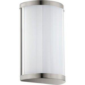 Eglo LED-Wandlampe Cupella Weiß-Nickel matt