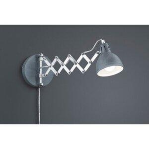 Reality LED-Wandleuchte Scissor Betonfarbig Metall