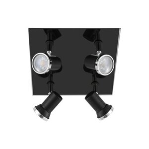 Eglo LED-Spot 4er Tamara GU10 Schwarz-Klar