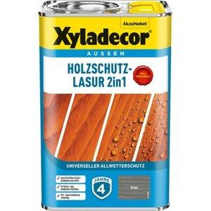 Xyladecor Holzschutz-Lasur 2in1 Grau 4 l