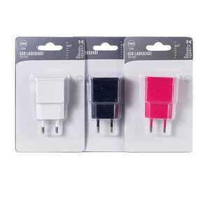 USB Stromstecker, verschiedene Farben
