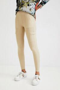 Slim Fit Militär-Leggings
