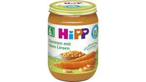 HiPP Bio Gemüse Karotte mit roten Linsen, 190g