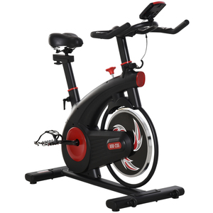 HOMCOM Fahrradtrainer Indoor Heimtrainer mit 8KG Schwungrad Home Gym 107 x 52 x 104-119 cm