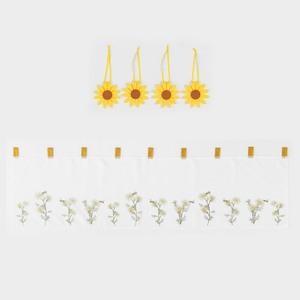 Bella Casa Kurzgardine - Sonnenblume