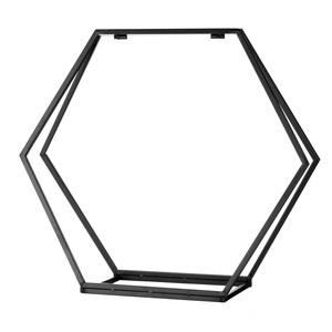 MW Kaminholz Metallregal - Hexagon