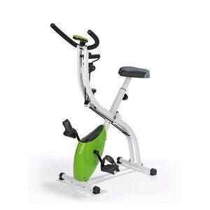 VITALmaxx Heimtrainer Fitness Bike weiß/limegreen