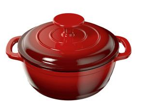 ERNESTO® Topf Gusseisen rot emailliert 16cm 1,3L